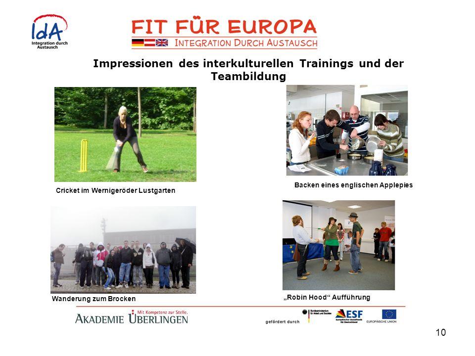 Impressionen des interkulturellen Trainings und der Teambildung