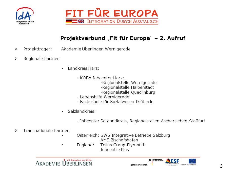 Projektverbund 'Fit für Europa' – 2. Aufruf