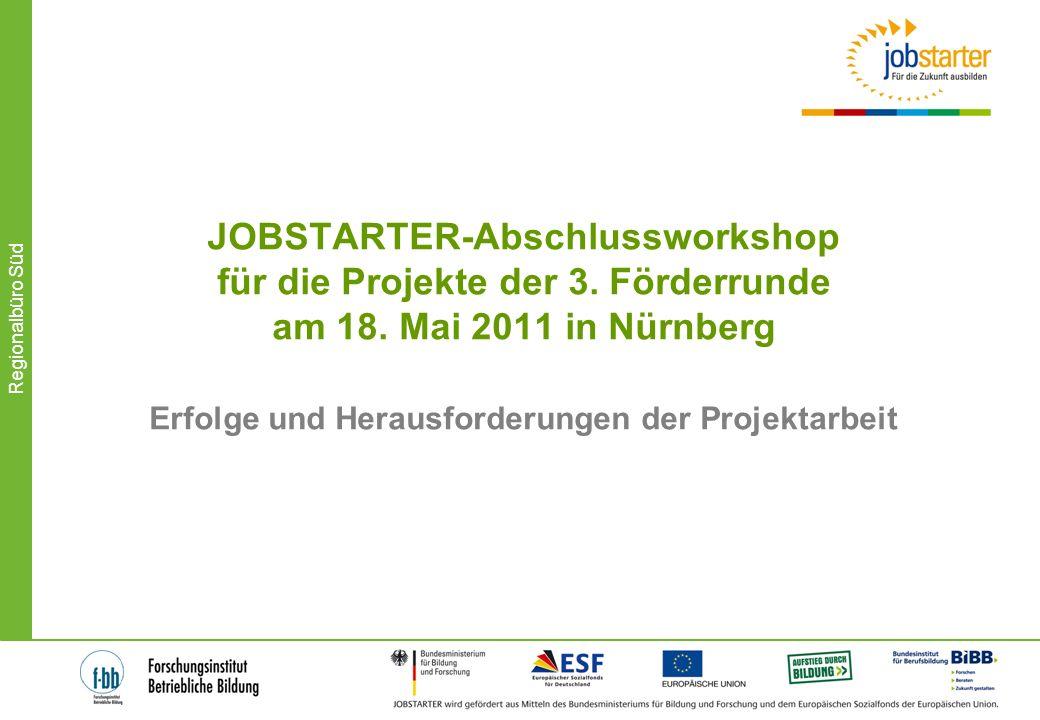 JOBSTARTER-Abschlussworkshop für die Projekte der 3. Förderrunde am 18