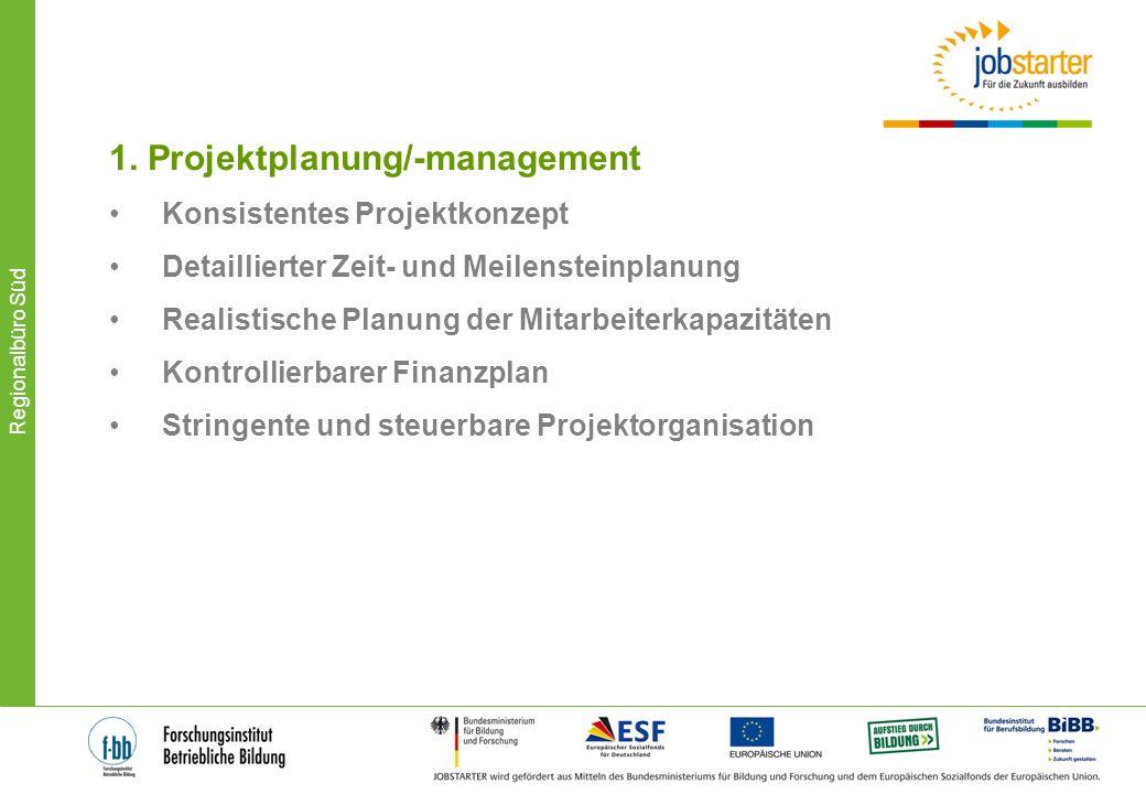 1. Projektplanung/-management