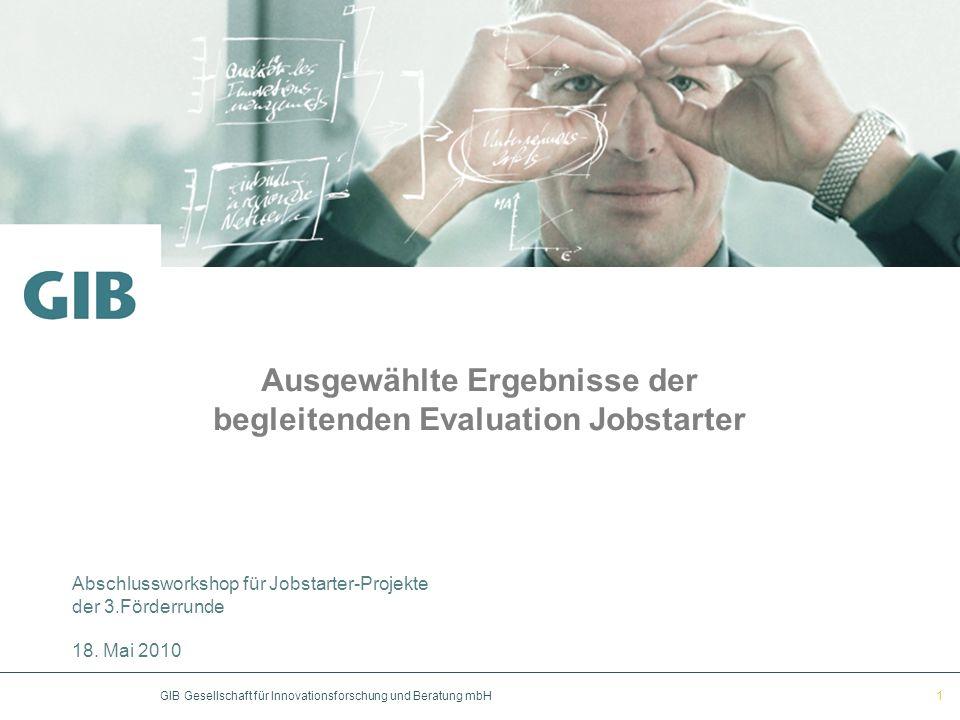 Ausgewählte Ergebnisse der begleitenden Evaluation Jobstarter