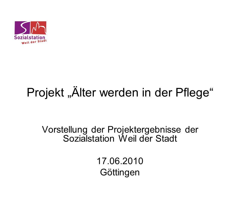 """Projekt """"Älter werden in der Pflege"""