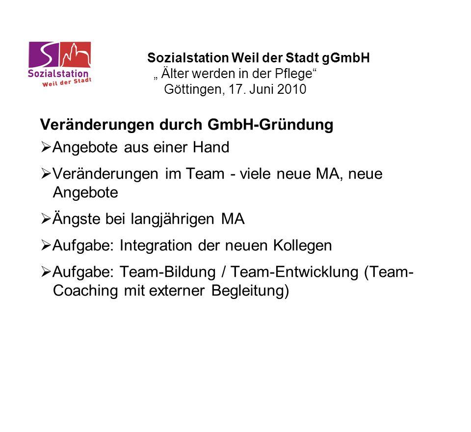 Veränderungen durch GmbH-Gründung Angebote aus einer Hand