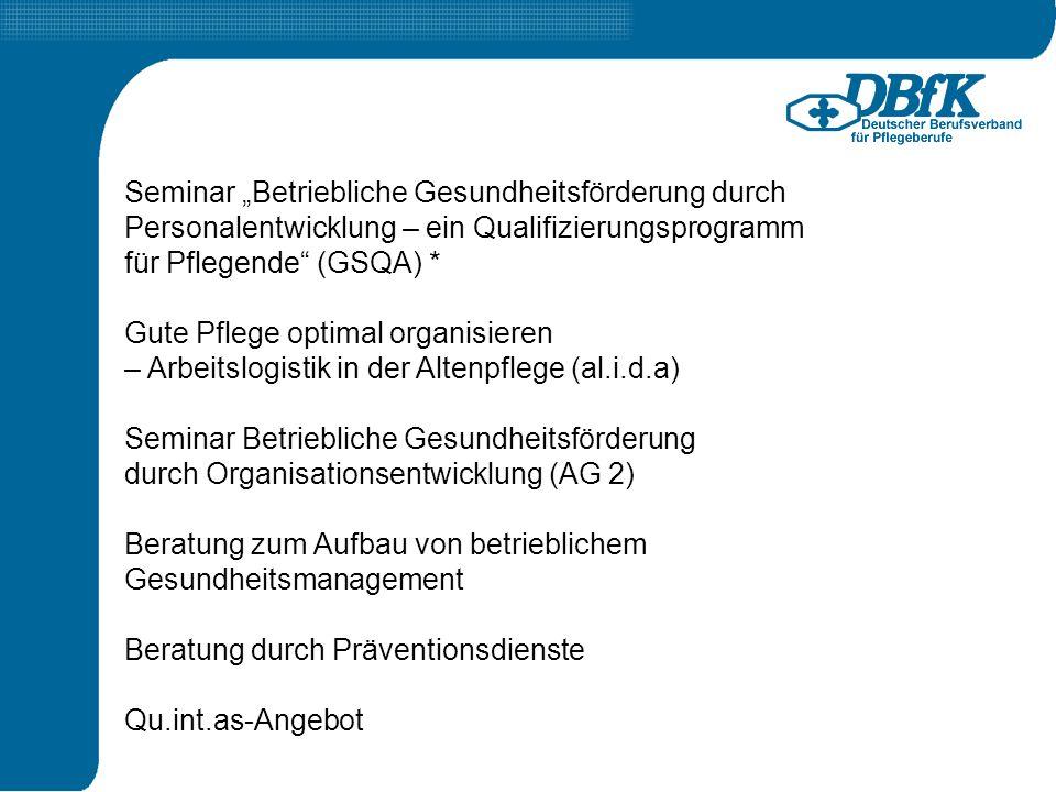 """Seminar """"Betriebliche Gesundheitsförderung durch"""
