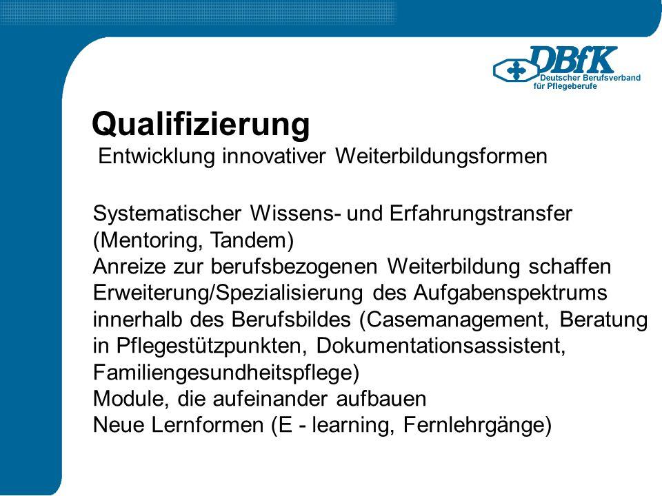 Qualifizierung Entwicklung innovativer Weiterbildungsformen