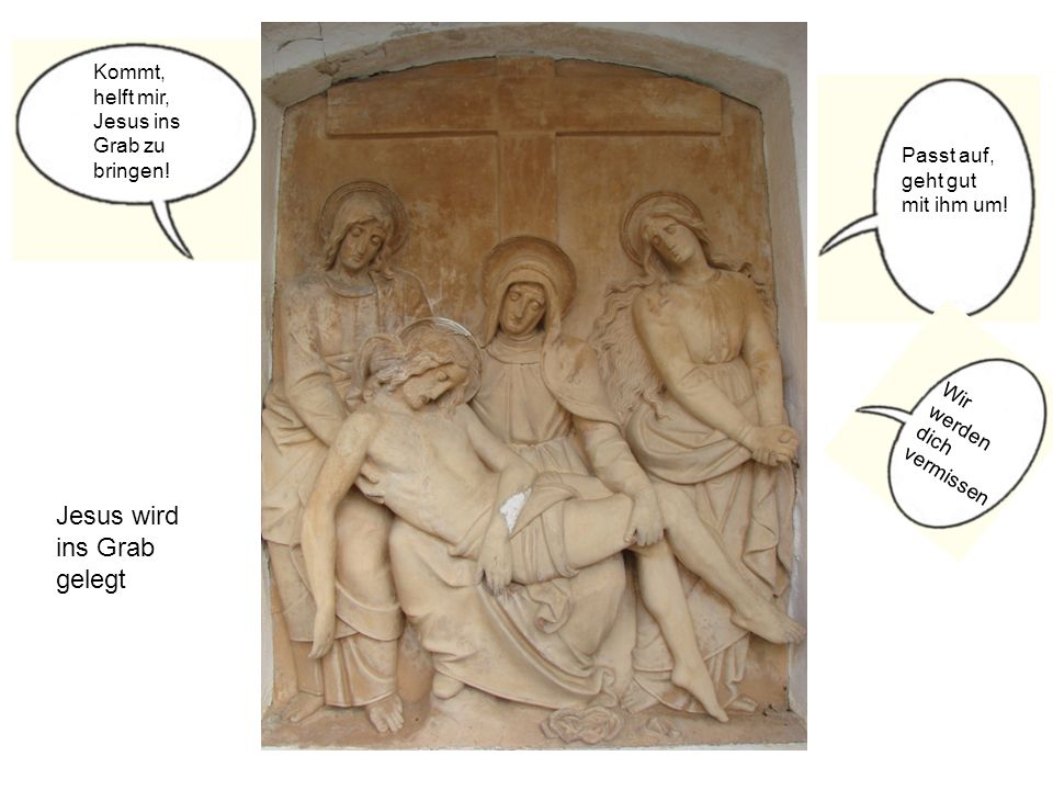 Jesus wird ins Grab gelegt