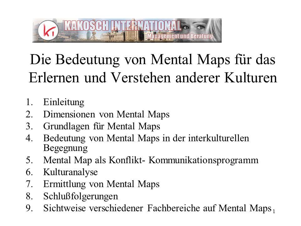 Die Bedeutung von Mental Maps für das Erlernen und Verstehen anderer Kulturen