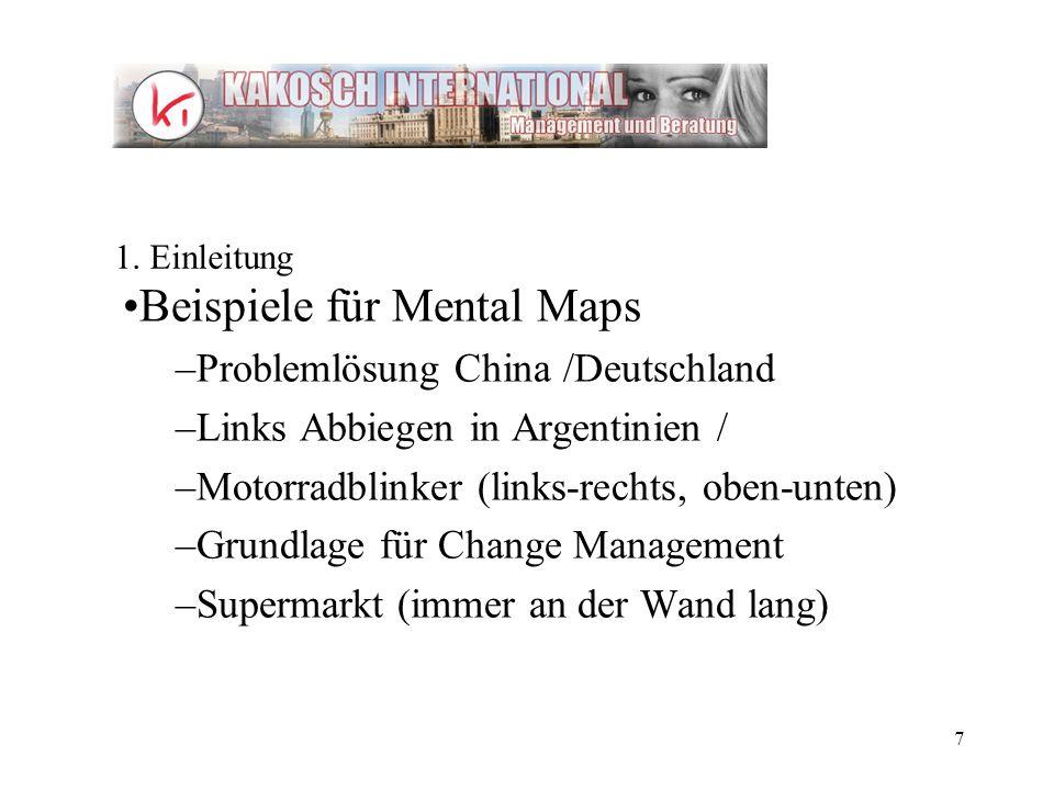 Beispiele für Mental Maps