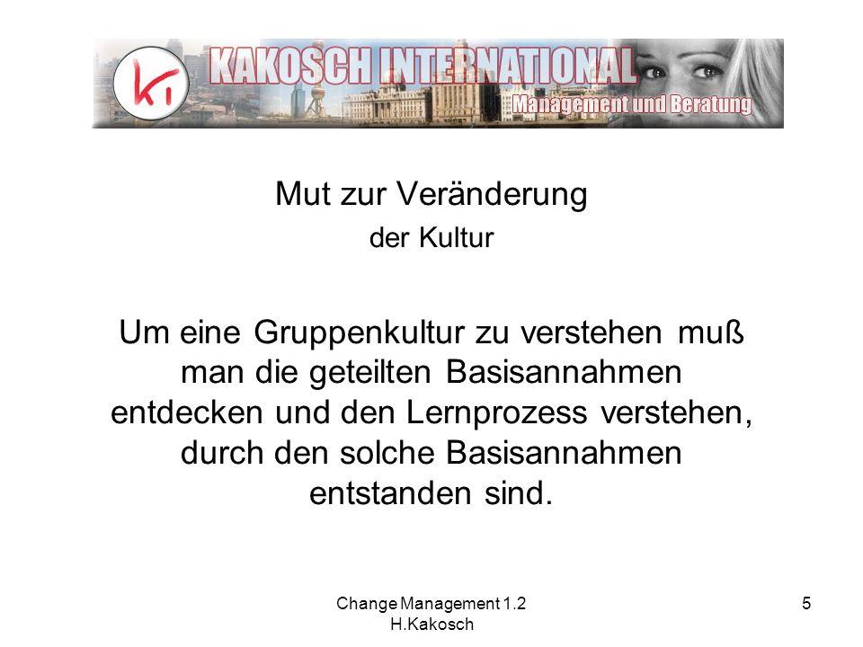 Change Management 1.2 H.Kakosch