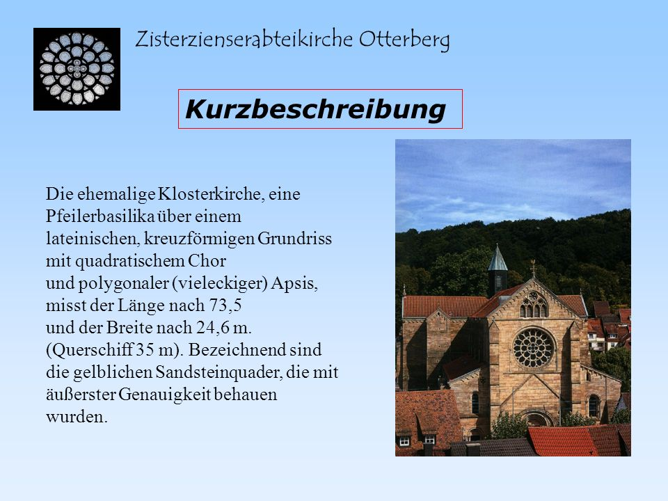Kurzbeschreibung Zisterzienserabteikirche Otterberg
