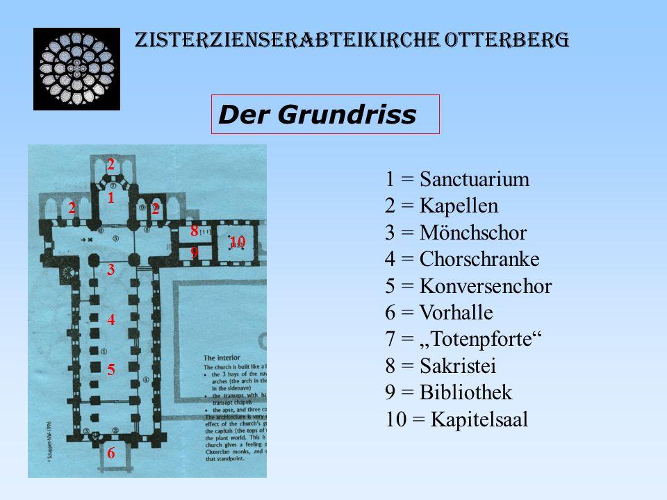Der Grundriss Zisterzienserabteikirche Otterberg 1 = Sanctuarium