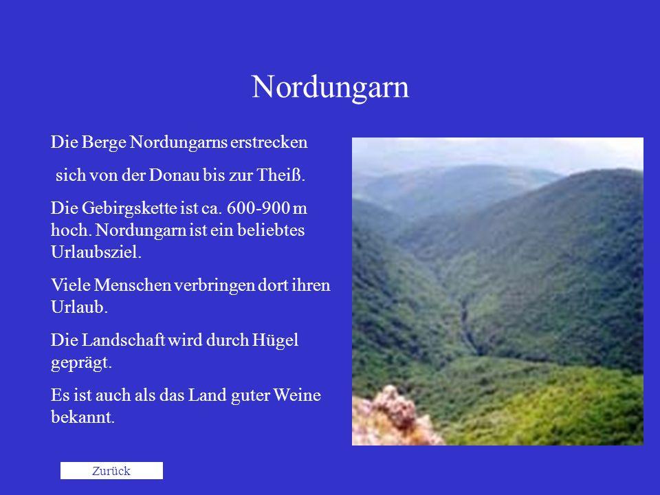 Nordungarn Die Berge Nordungarns erstrecken