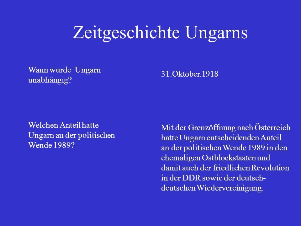 Zeitgeschichte Ungarns