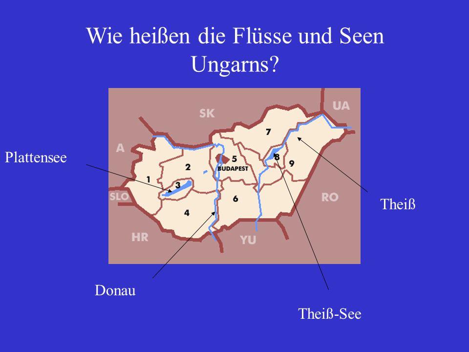 Wie heißen die Flüsse und Seen Ungarns