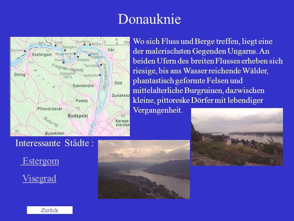 Donauknie Interessante Städte : Estergom Visegrad