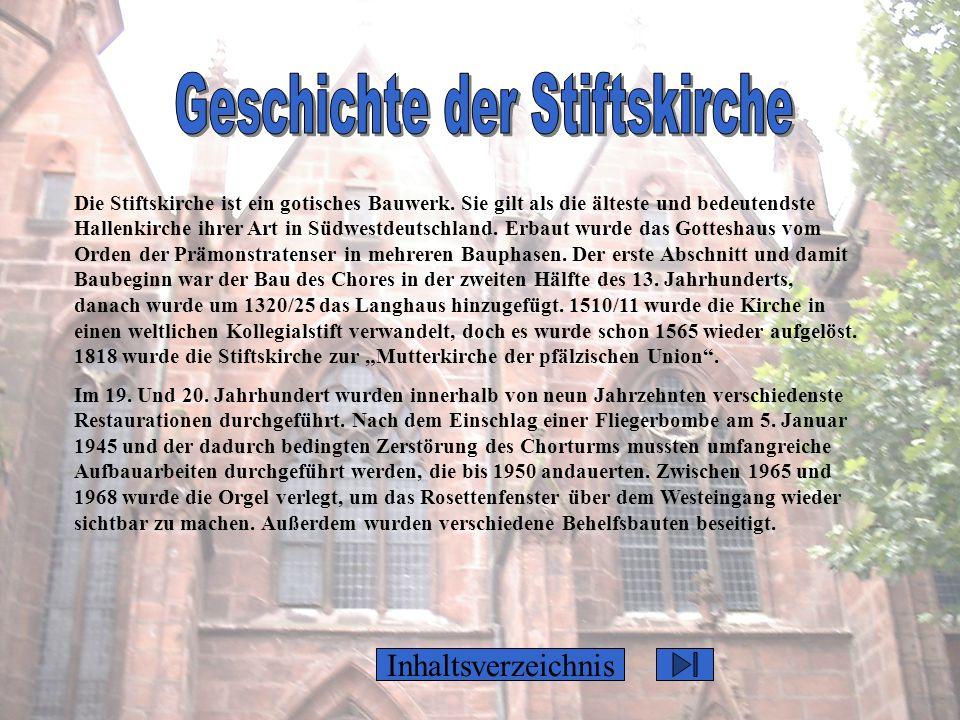 Geschichte der Stiftskirche