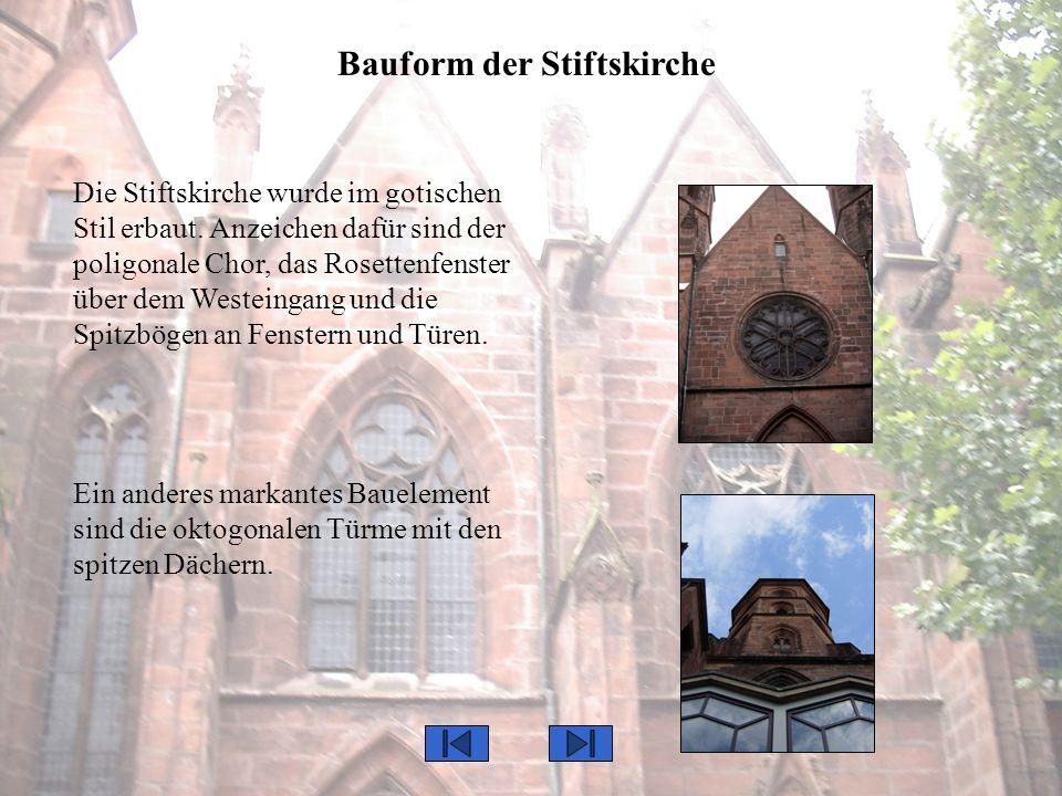 Bauform der Stiftskirche