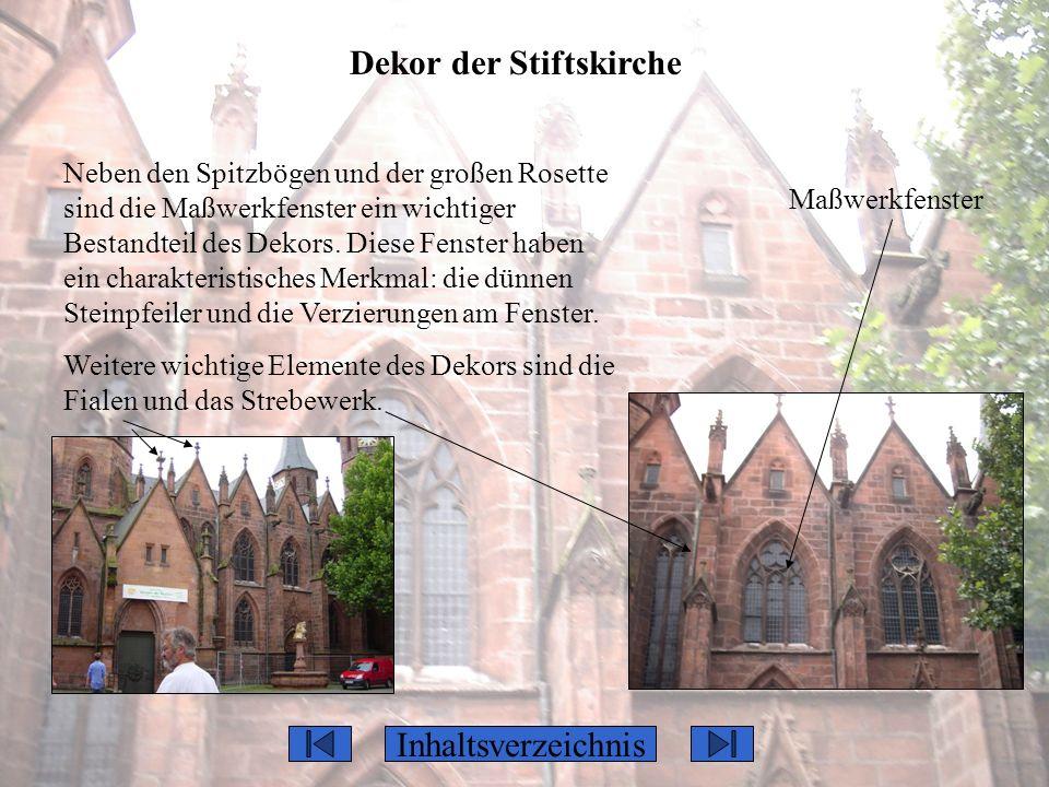 Dekor der Stiftskirche