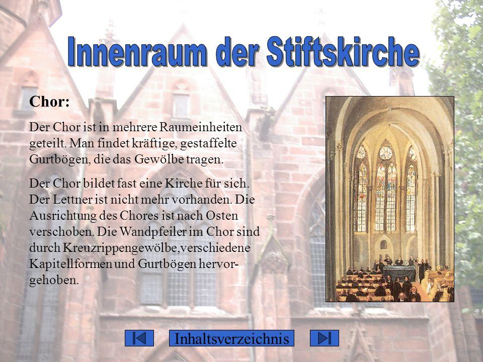 Innenraum der Stiftskirche
