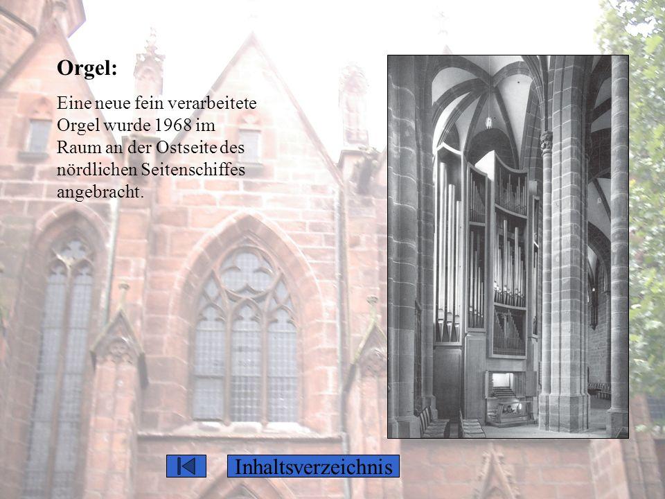 Orgel: Inhaltsverzeichnis