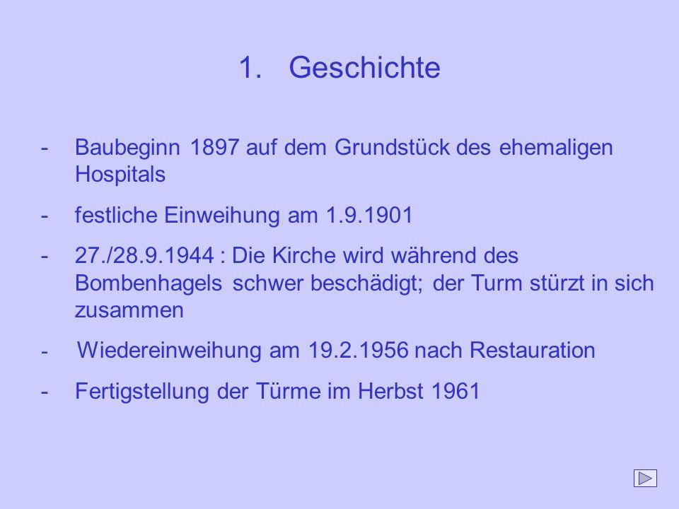Geschichte Baubeginn 1897 auf dem Grundstück des ehemaligen Hospitals