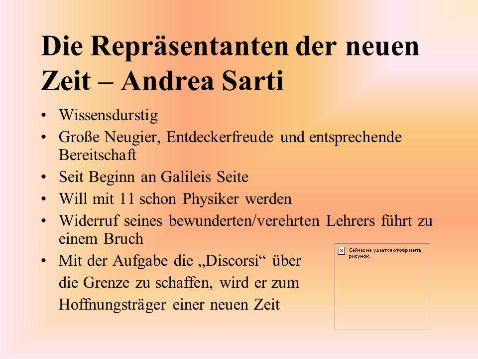 Die Repräsentanten der neuen Zeit – Andrea Sarti