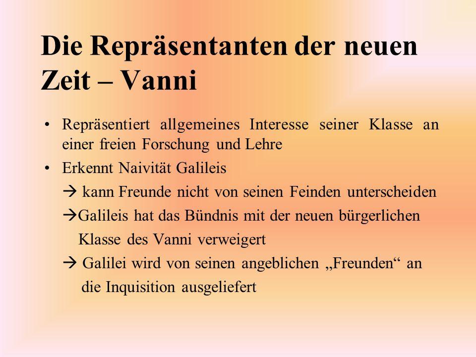 Die Repräsentanten der neuen Zeit – Vanni