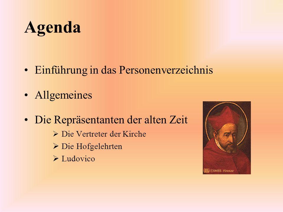 Agenda Einführung in das Personenverzeichnis Allgemeines