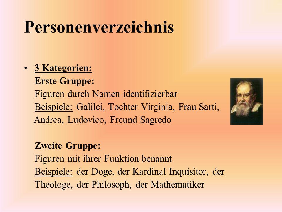 Personenverzeichnis 3 Kategorien: Erste Gruppe: