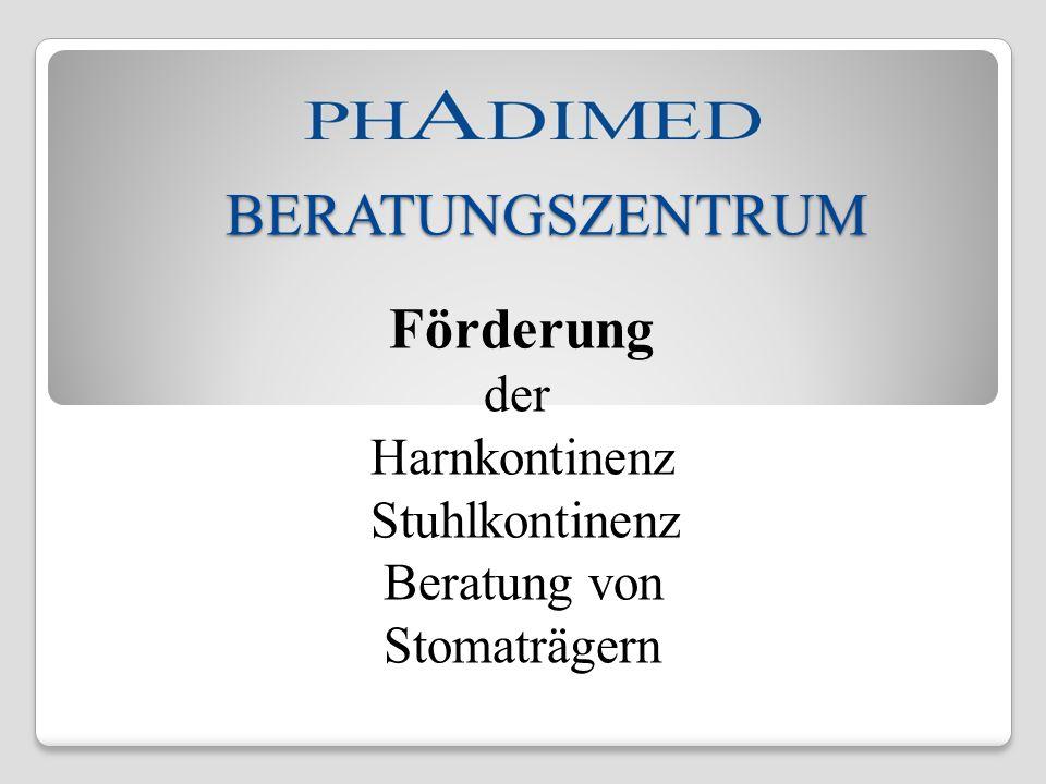 BERATUNGSZENTRUM der Harnkontinenz Stuhlkontinenz Beratung von