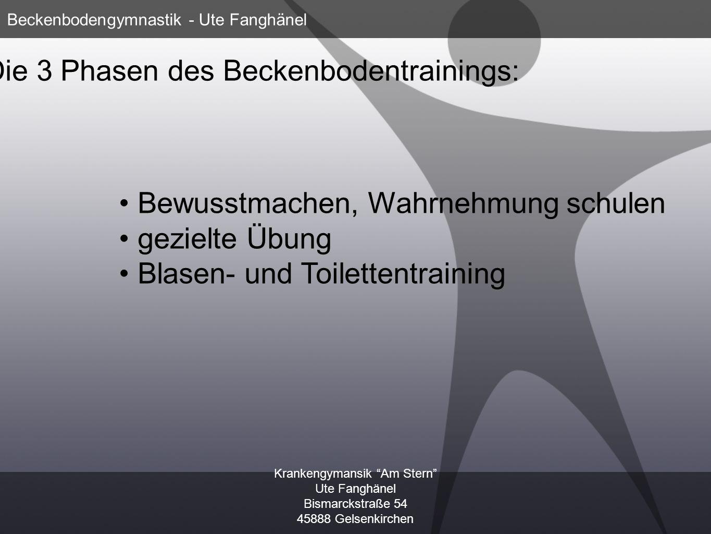 Die 3 Phasen des Beckenbodentrainings: