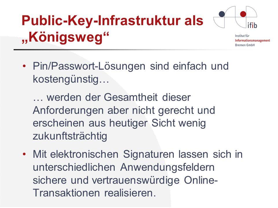 "Public-Key-Infrastruktur als ""Königsweg"