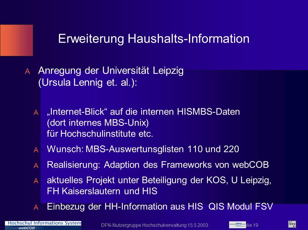 Erweiterung Haushalts-Information