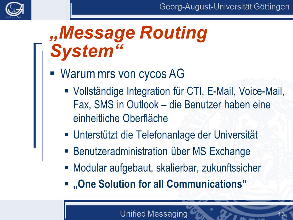 """Message Routing System"