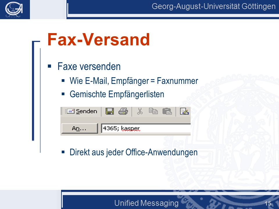 Fax-Versand Faxe versenden Wie E-Mail, Empfänger = Faxnummer