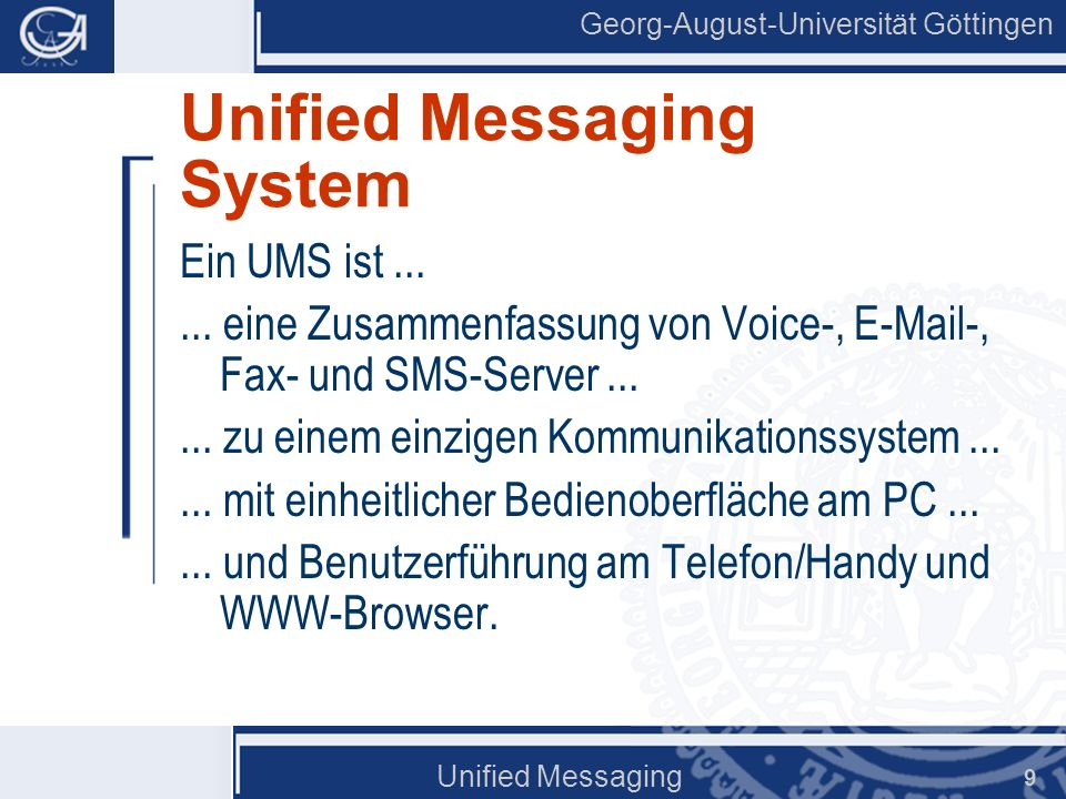 Unified Messaging System