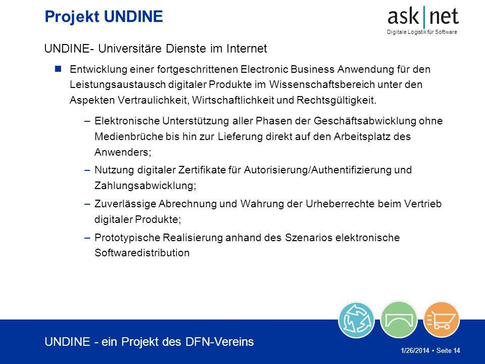 Projekt UNDINE UNDINE- Universitäre Dienste im Internet