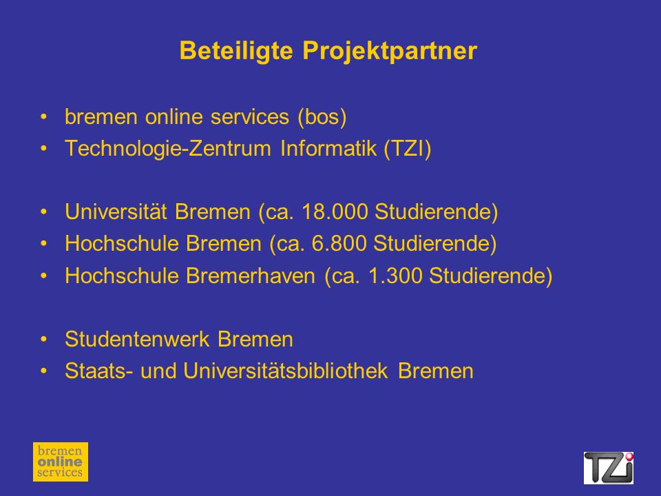 Beteiligte Projektpartner