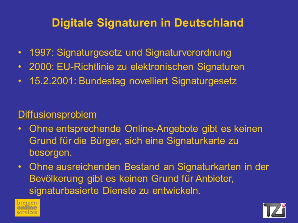 Digitale Signaturen in Deutschland