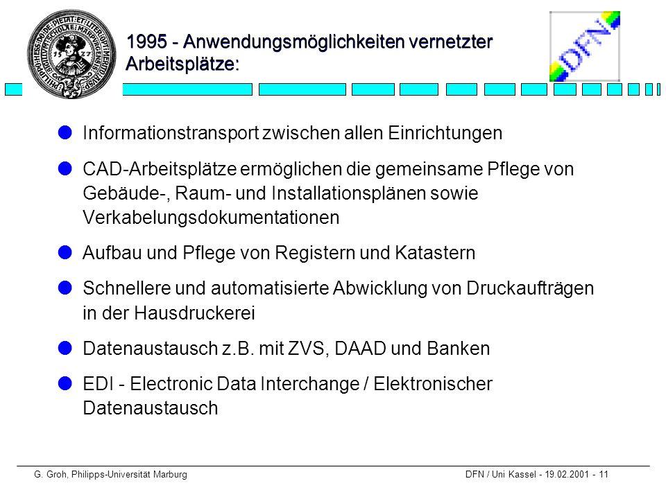 1995 - Anwendungsmöglichkeiten vernetzter Arbeitsplätze: