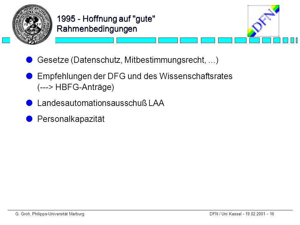 1995 - Hoffnung auf gute Rahmenbedingungen