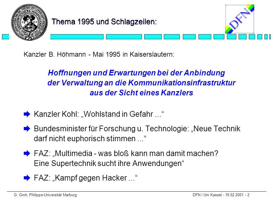 Thema 1995 und Schlagzeilen: