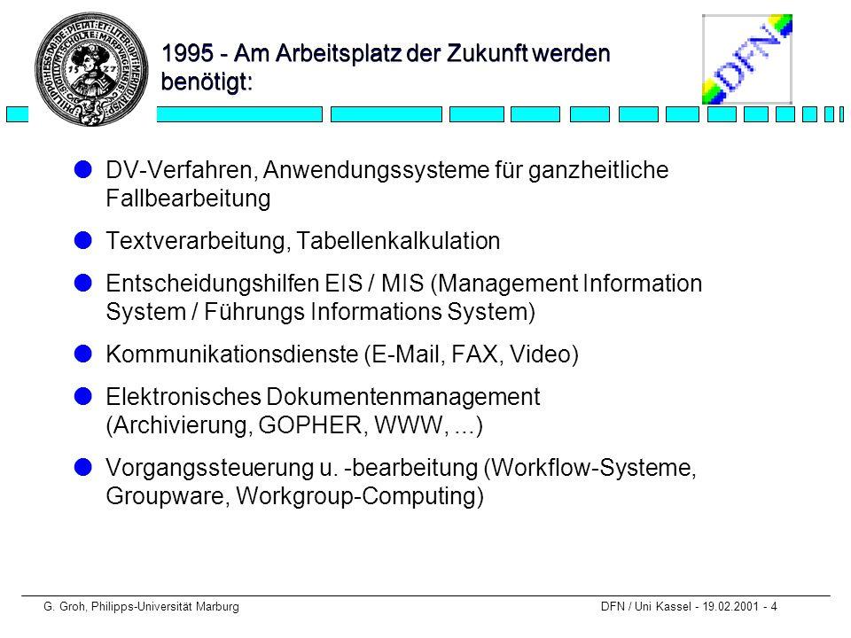 1995 - Am Arbeitsplatz der Zukunft werden benötigt:
