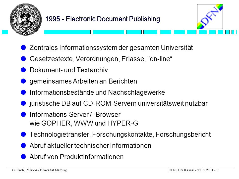 1995 - Electronic Document Publishing