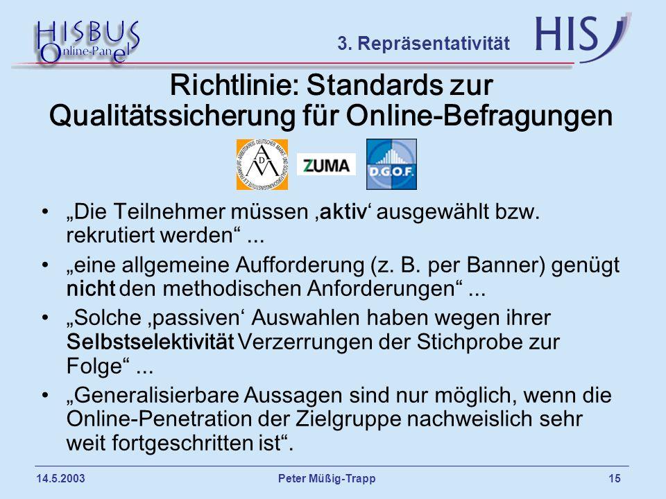 Richtlinie: Standards zur Qualitätssicherung für Online-Befragungen