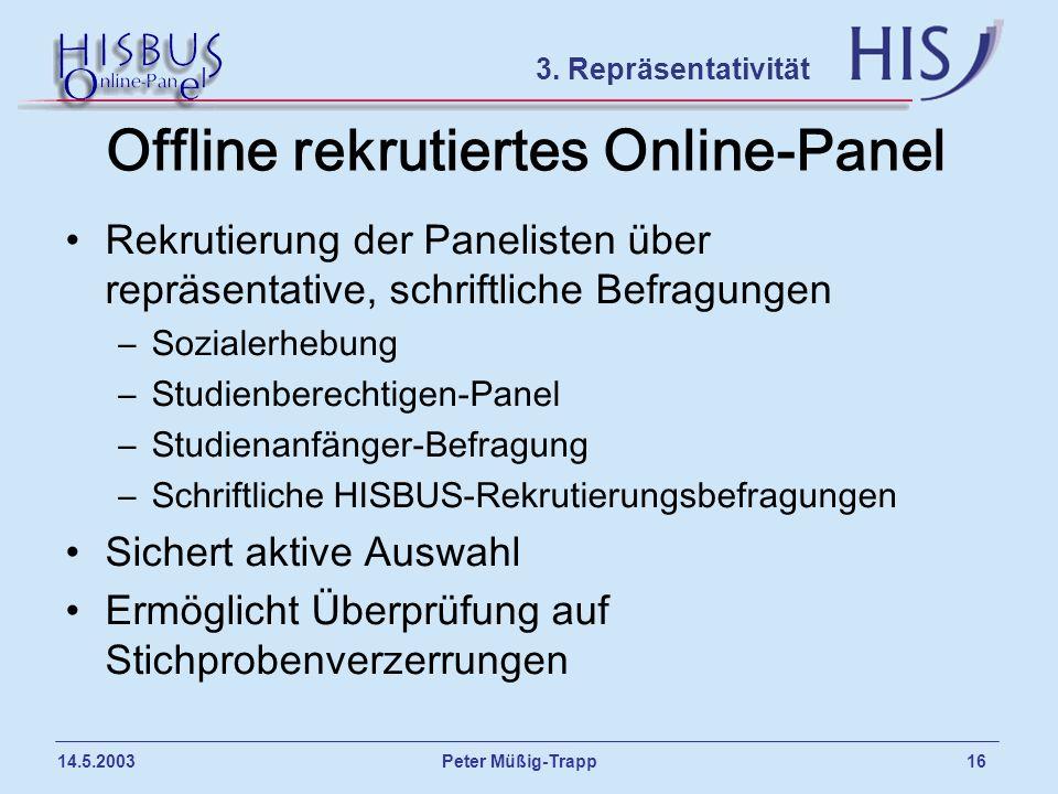Offline rekrutiertes Online-Panel