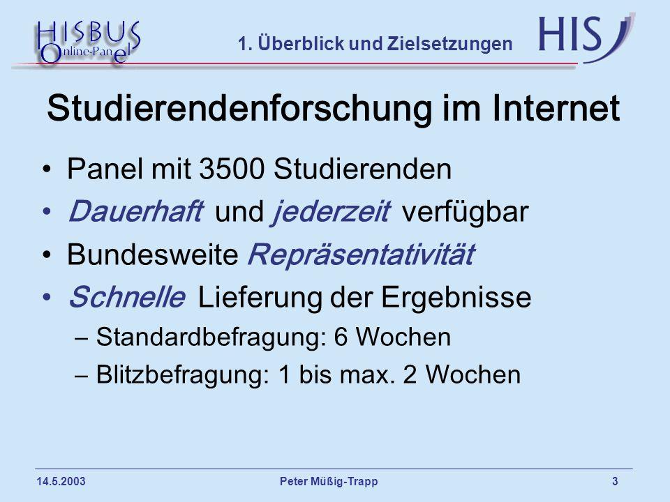 Studierendenforschung im Internet