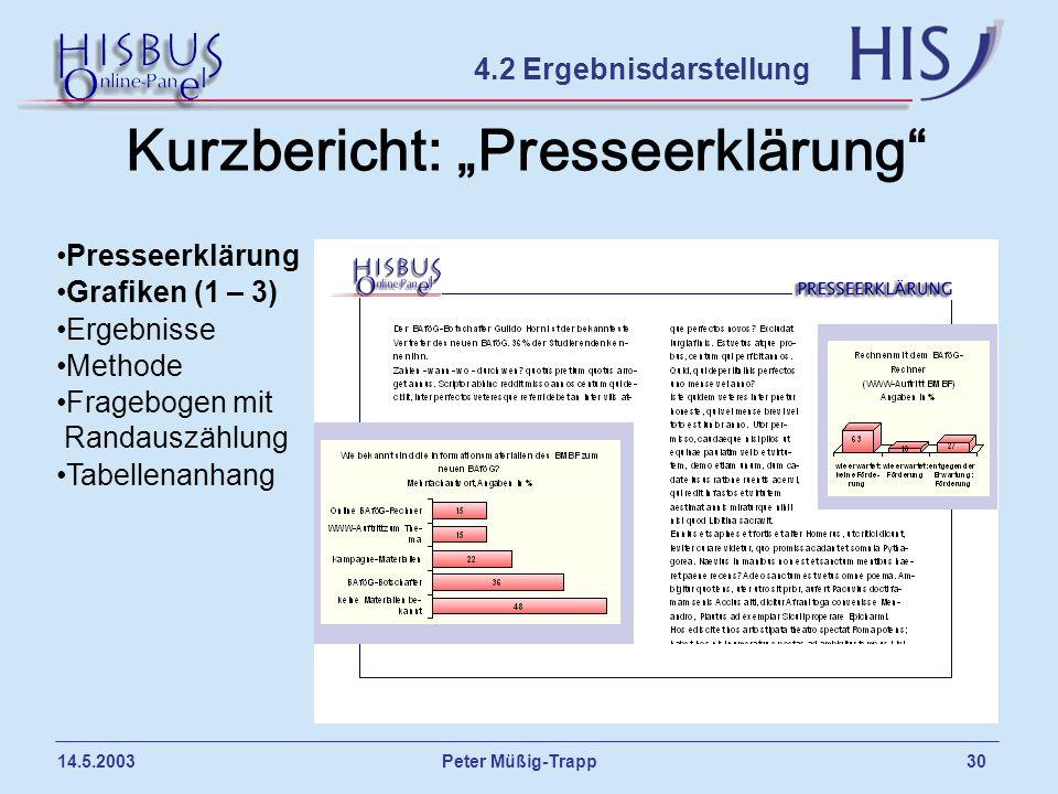 "Kurzbericht: ""Presseerklärung"