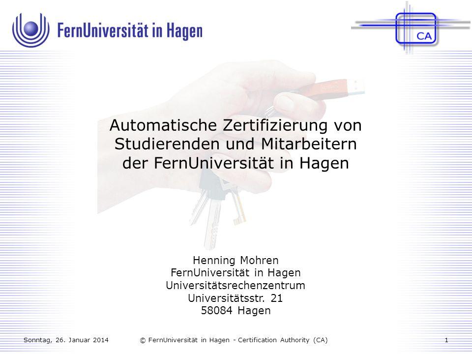 Automatische Zertifizierung von Studierenden und Mitarbeitern