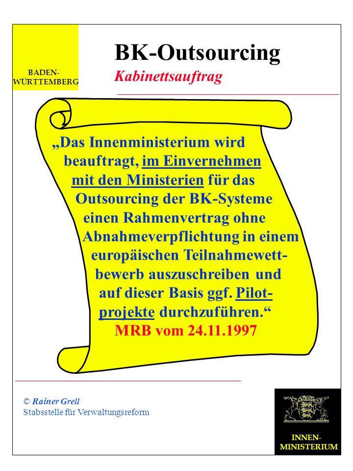 """BK-Outsourcing Kabinettsauftrag """"Das Innenministerium wird"""